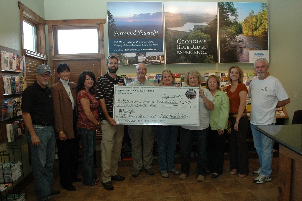 Blue Ridge Lodging Association Donation to the Humane Soceity of Blue Ridge