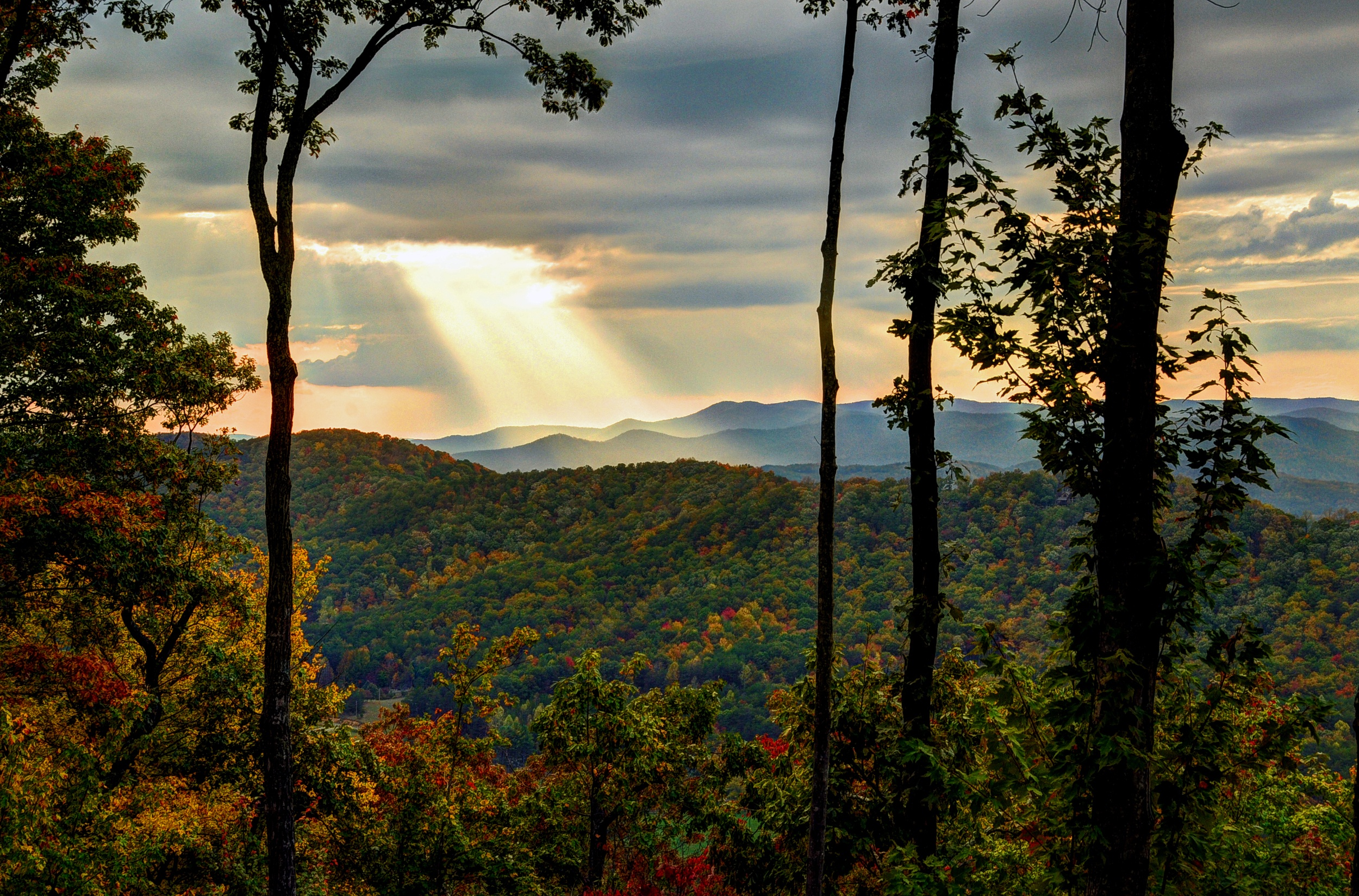 Blue Ridge Sunset in the Fall